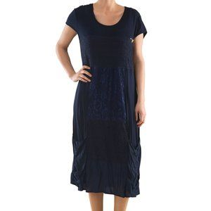 Plus Size Knit Dress with Embroidery - La Mouette